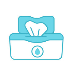 wet wipes pack color icon vector image