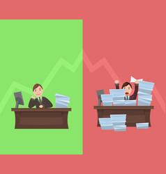 workload workers with schedule in vector image