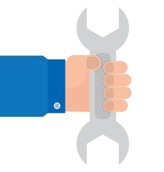 Wrench in hand mechanics vector