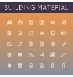 Building Material Line Icons vector image