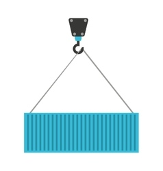 crane hook lifting icon vector image
