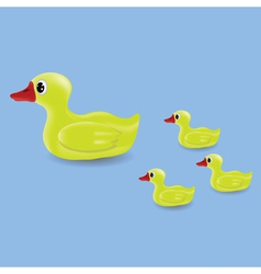 duck and ducklings vector image