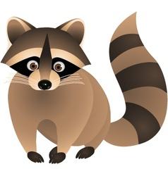 raccoon cartoon vector image vector image
