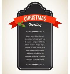 Chalkboard christmas vintage invitation and label vector
