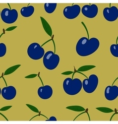 Seamless pattern plum fruit randomly scattered vector image vector image