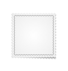 white paper template with ribbon vector image vector image