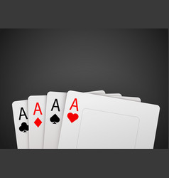 casino poker card background big win concept vector image