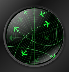Radar with planes vector image
