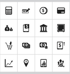 Set of 16 editable investment icons includes vector