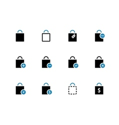 Shopping bag duotone icons on white background vector image