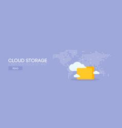 cloud storage banner concept vector image vector image