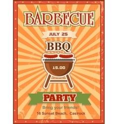 Invitation card on the barbecue design template vector image