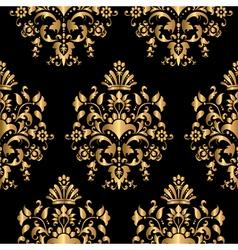 Luxury seamless golden pattern vector image vector image