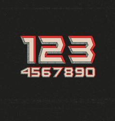 80s Retro Futuristic Numbers vector image