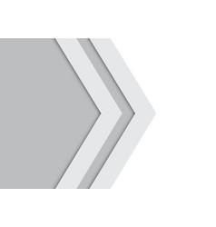 Abstract double gray arrow design modern future vector