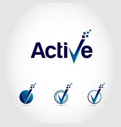 Active v logo symbol icon vector