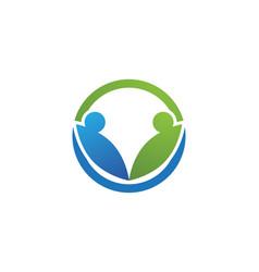 Adoption logo template icon vector