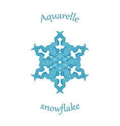 aquarelle snowflake hand drawn watercolor winter vector image