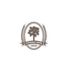 arabian palm date middle east tree logo design vector image