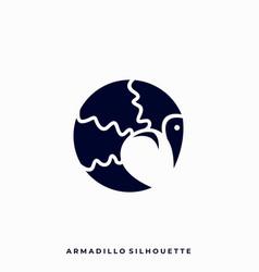 Armadillo design template vector