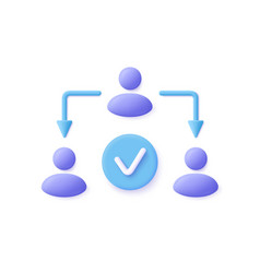 assignment delegate delegating distribution icon vector image