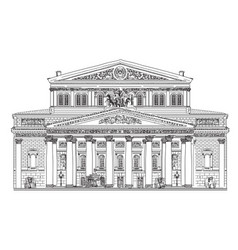 Big theater in moscow vector