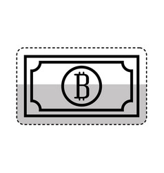 Bill with bitcoin symbol vector