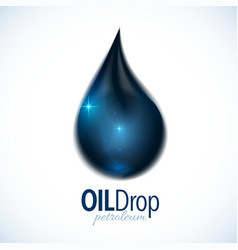 Black oil drop with text design vector