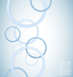 Blue circles abstract background vector image