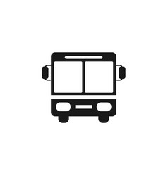 bus icon graphic design template vector image