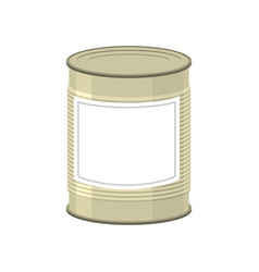 cans isolated tin bank on white background vector image
