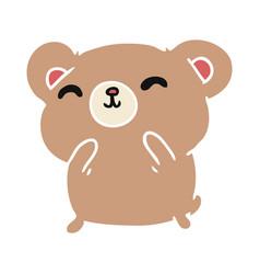 Cartoon kawaii cute happy hamster vector