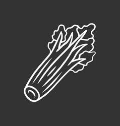 celery chalk icon vector image
