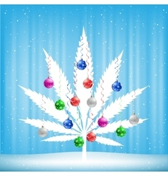 Christmas cannabis tree vector image vector image