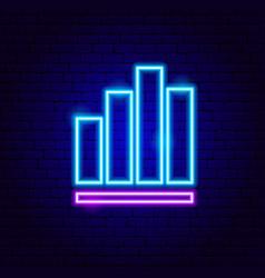column graph neon sign vector image