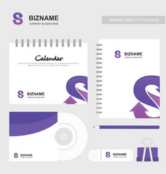 company calender with a unique design and logo vector image