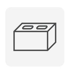 Concrete block icon vector