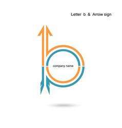 Creative letter B icon abstract logo design vector image