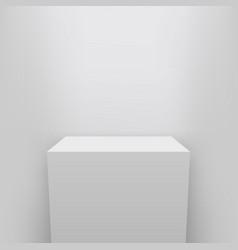 Creative of museum pedestal vector