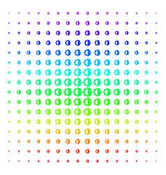 cyborg head icon halftone spectrum effect vector image