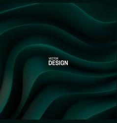 Dark green curvy pattern surface vector