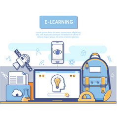 E-learning concept for application development vector