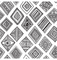 Ethnic rombs seamles pattern vector