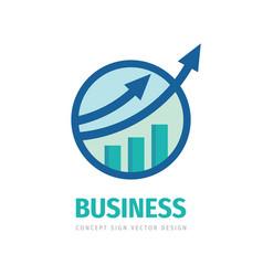 Fintech market business logo design marketing vector