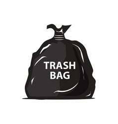 Garbage bag icon vector
