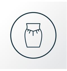 garment icon line symbol premium quality isolated vector image
