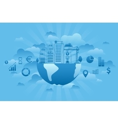 Global Investments blue vector image
