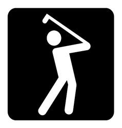 Golf sign vector