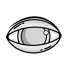Grayscale human eye to optical vision icon vector