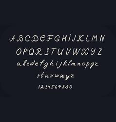 hand lettering alphabet design handwritten brush vector image